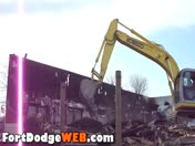 Mineral City Mill & Grill Being Demolished in Fort Dodge