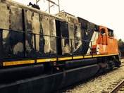 burned train last night