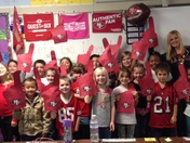 Mrs. Roper's 2nd Grade Class celebrating 49er Friday