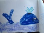 Whale -Oil Pastels