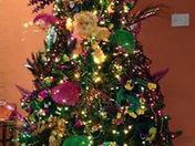 Mom and Dad's Mardi Gras Tree!