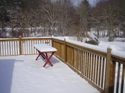 our porch looking on to fox creek