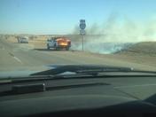 trk starts grass fire