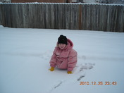 Her first big snow