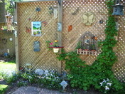 decorated lattice privacy fence