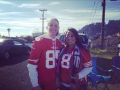 Tailgating time ! Niners baby !! #faithful #bleedredandgold