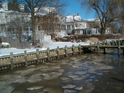 Icy Chester River along Water Street