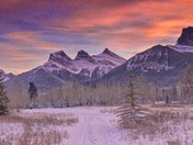 Sunset 3 Sisters Canmore
