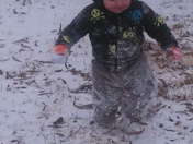 Emmett's first time to play in the snow