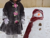 My snowman and me!