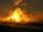 Fireball in the Harbor