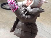 Grace experiences her first sleet/snow