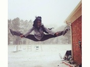 Toe touch of snow