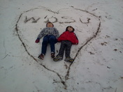 The kids give Wdsu a shout out in the snow