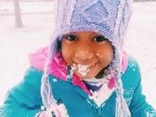 Amara Stone Eating Snow in Brandon, MS