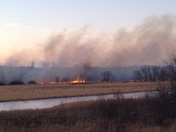 Brush Fire just north of Cunnigham Lake