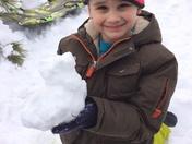 Luka's snowman!