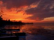 Fire on Ice Sunset