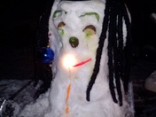 Our snowman wishes he was in Jamaica!  :-P