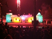 lighting of the ice castle 2014