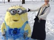 Despicable Me Minion Snowman