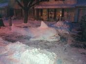 world in snow