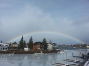 rainbow before the snow?