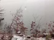 Snowing on Lake Hartwell