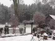Snow video of snow falling on the Brehmer farm in Clinton, SC