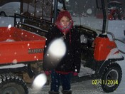 Playing in the Snow 2.12.14 Davie County