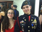 Nic and Autumn at the military ball