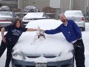 Snow in greenville sc