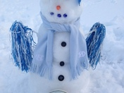 Snowman photo Go Heels