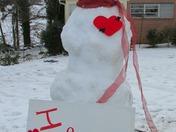 Valentine's snow