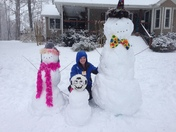 Snow fun in Pfafftown.   Jessica Hurst (daughter Abby in photo)