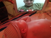 Marine sees birth of first child via skype