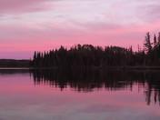 Sunset at Sample Lake