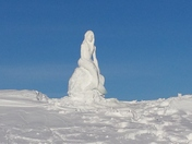 Mermaid Snow Sculpture