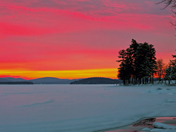 Sunrise Winnipesaukee 2-19-2014