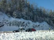 Fresh drive by video of route 101 crash scene