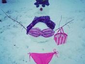 Swimsuit Snowman