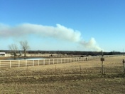 Large Fire Southeast of Stroud