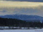 Sunrays over Mt Mansfield