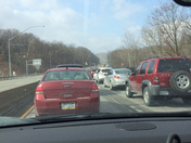 parkway west traffic dead stopped for 15 min so far