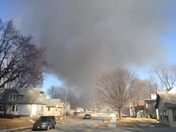 Neighborhood east of uno fire