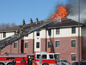 UNO dorm fire via Kiki Moore (scott resident, building B)