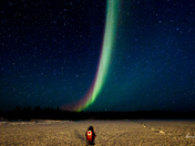 Aurora in the Yellowknife of Canada