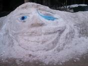 Southport snow sculptures