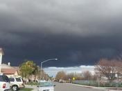 Dark skies above Modesto