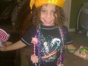 My adorable nephew enjoying his Mardi Gras with his awesome tv. Smile 2014